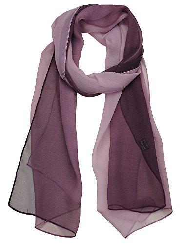 - NYFASHION101 Women's Multicolor Chiffon Silk Blend Scarf Shawl Wrap, Plum