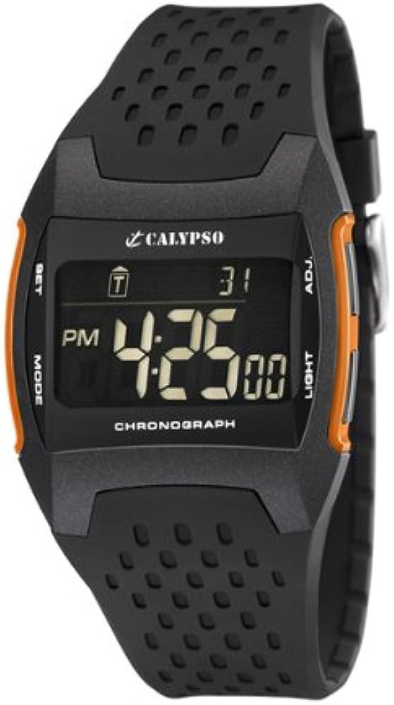 Calypso K5563/3 - Reloj digital de caballero de cuarzo con correa de plástico negra (cronómetro, luz) - sumergible a 100 metros: Amazon.es: Relojes