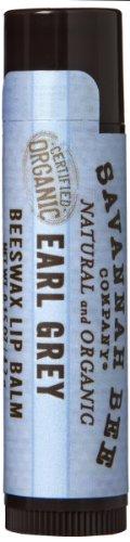 Savannah Bee Company Certified Organic Earl Grey Beeswax Lip Balm, 0.15-Ounce