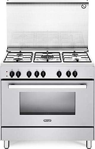 De Longhi Demw96ed Cucina A Gas Con Forno Elettrico Ventilato 90x60 Cm Classe A Bianco Amazon It Grandi Elettrodomestici