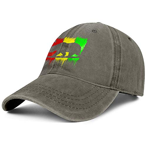 California Republic Rasta Bear Men's Women's Cowboy Trucker Cap Adjustable Snapback Sun Hat