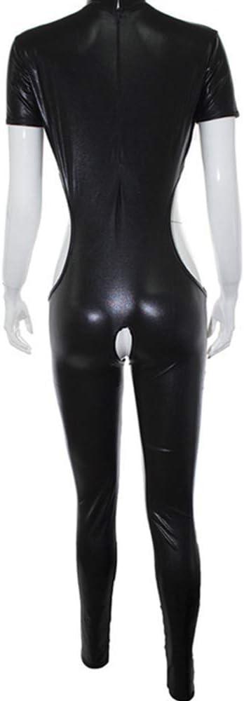 Par de charol negro Ropa esc/énica Vestir Traje de placer B`D`S-M Boňd/àg/é Lencer/ía