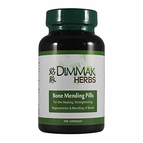 Bone Mending Pills by Dimmak Herbs | Bone Fracture Healing Supplement | Bone Strengthening Pills | Chinese Medicine Herbs and Healing - 500mg, 100 Capsules Bone Up 240 Capsules
