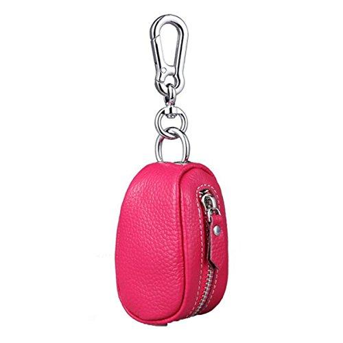 Jia Qing Leder Damen Herren Soft Schlüsselbund Key Case Griff Tasche Pink DkQsAyOP2T