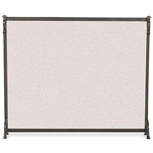 (Pilgrim Single Panel Craftsman Fireplace Screen Size - Small - 39W x 31H inches)
