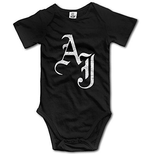 Black AJ Styles Wwe Funny Toddler Short Sleeve Nursling Romper