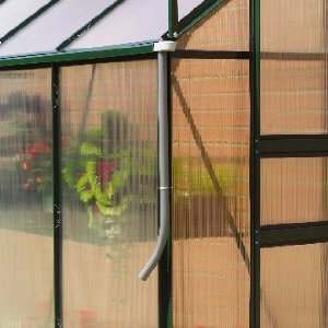 GREENHOUSE RAINWATER GUTTER KIT  DOWNPIPE DIRECTS WATER IN TO GARDEN WATER  BUTT