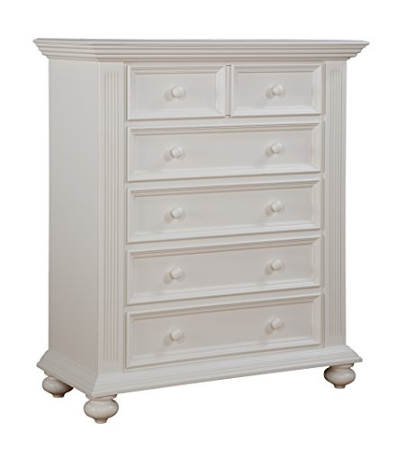 Munire Kingsley Keyport 5 Drawer Chest White