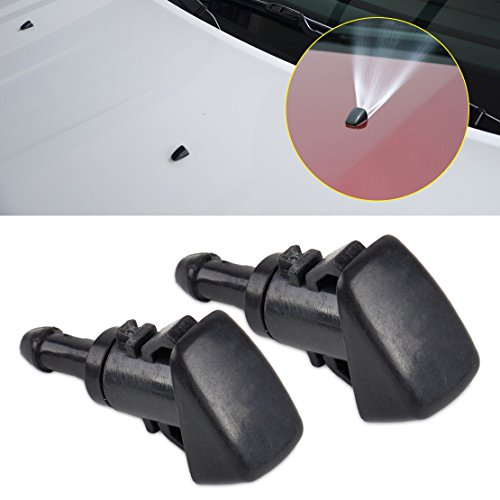 beler 2pcs Double Hole Windshield Wiper Washer Water Sprayer Nozzle for Chrysler Dodge Jeep Ram 47186