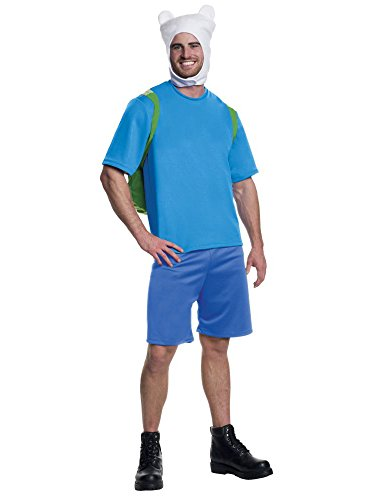 Rubie's Men's Adventure Time Deluxe Finn Costume, Multi,