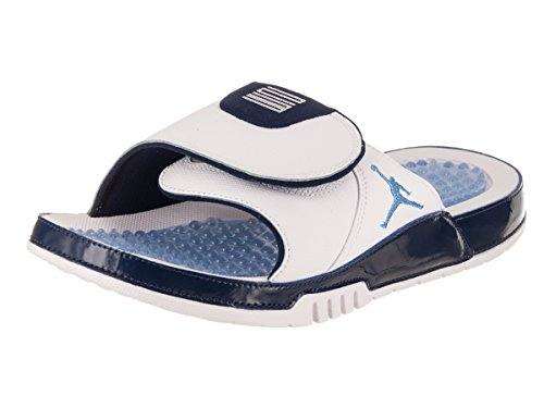 964d7d4a3 Jordan Men Hydro XI Retro Slide White University Blue-Midnight Navy ...