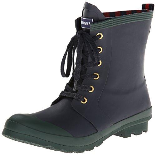 Tommy Hilfiger Women's Renegade Rain Boot, Navy, 8 M (Woman Boots Tommy Hilfiger)
