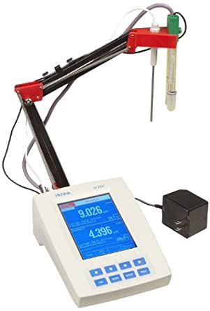 Hanna Instruments HI 4222 Dual Channel pH/ORP/ISE/Resistivity/Salinity/Temperature Benchtop Meter, with Color LCD