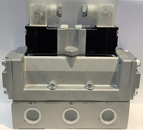 CKD 4F720-20-L-DC24V 4F7 Pneumatic Discrete Valve, Sub-Plate Porting 5-Port Pilot Operated Air Valve
