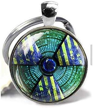 Halskette mit Fallout Strahlung Gefahrensymbol, radioaktive