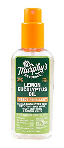 Murphy's Naturals Lemon Eucalyptus Oil Insect Repellent | DEET Free Plant-Based Mosquito Repellent | 4-Ounce Pump Spray | Made in USA | 1-Pack