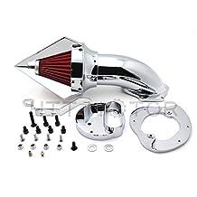 SMT MOTO- Motor Triangle Spike Air Cleaner kits for Yamaha V-Star 1100 Dragstar XVS1100 1999-2012 CHROME
