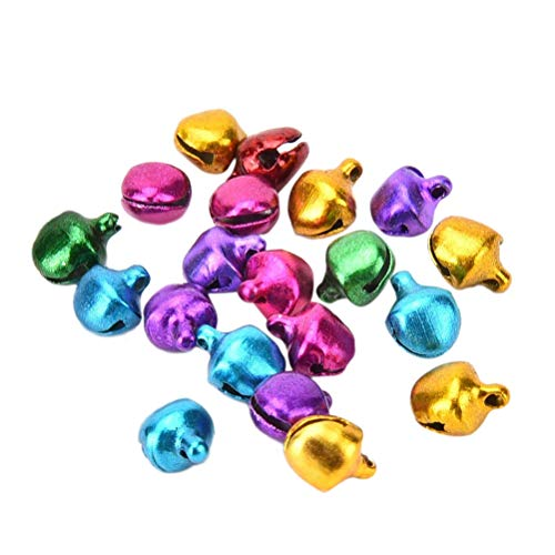 Xigeapg 10mm Jingle Bells Bulk for Christmas Decorations Ornaments Jewelry Making Crafts, Multicolor, Pack of 150