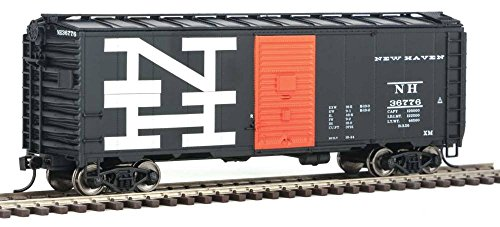 - 40' AAR 1944 Boxcar - Ready to Run -- New Haven #36776 (black, orange; Billboard NH Logo)