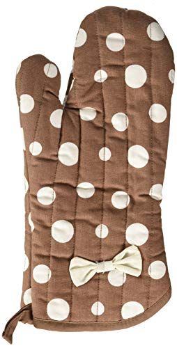 Jessie Steele Brown and White Retro Polka Dot Oven Mitt with ()