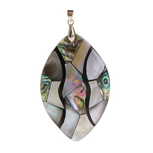 Jewelry Pendant Abalone Shell Vintage Fashion Findings DIY Necklace Round Square