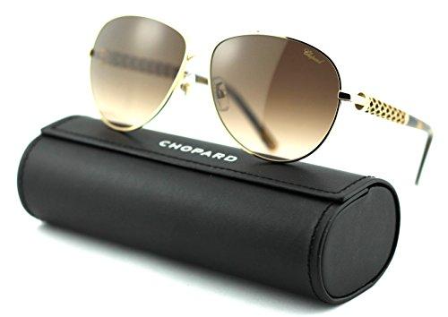 Frames Chopard Woman (Chopard SCH B66S Women Aviator Sunglasses (Rose Gold Frame/Brown Gradient Lenses 0300))