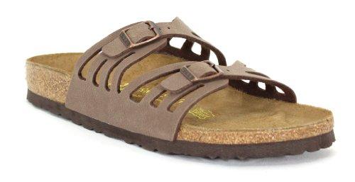 Birkenstock Suede Slides (Birkenstock Granada Sandal,Mocha Birkibuc,39 N EU)