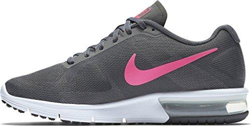 Nike Vrouwen Air Max Sequent Loopschoen Donkergrijs / Wit / Zwart / Hyper Roze Maat 8 M Ons