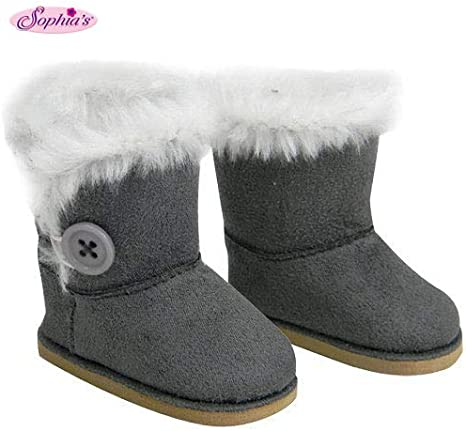 Fashion Black Shoes Boots For 18inch Girl Doll Party Gifts Baby Toys HPFBDU