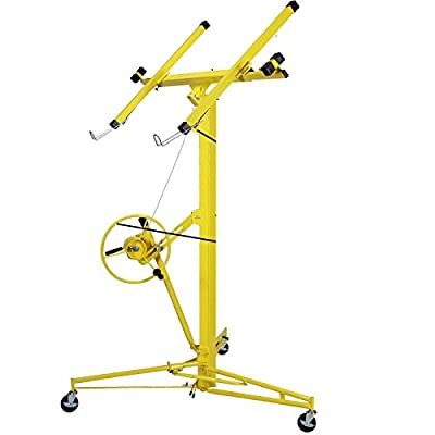 Eight24hours 16-19' Drywall Rolling Lifter Panel Hoist Jack Caster Construction Lockable Tool