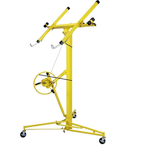 Eight24hours 16-19' Drywall Rolling Lifter Panel Hoist Jack Caster Construction Lockable ()
