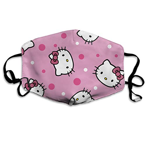 Dust Mask, Washable Outdoor Breathable UV-Proof Warm Windproof Mask, Unisex Hello Kitty