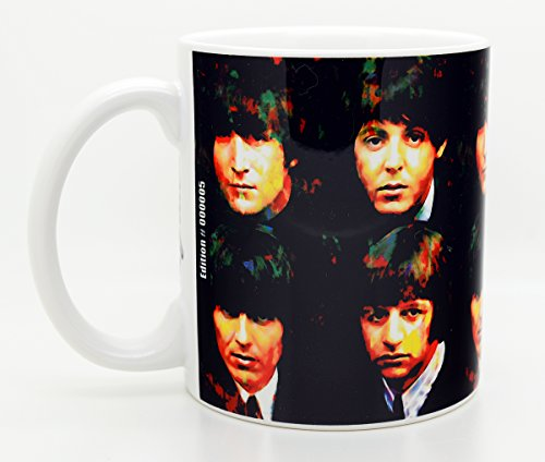 Mark Lewis Art Beatles Coffee Mug 11oz Cup | Signed Artwork Titled - Fab Four