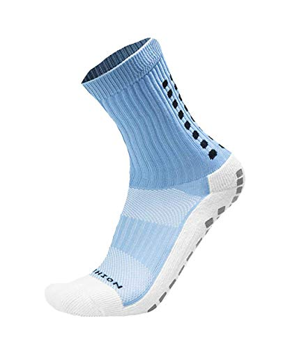 Mid-Calf Crew Anti Slip Sport Socks Soccer Football Beesox (Sky Blue)
