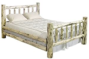 Montana Woodworks MWKBV Montana Collection Bed, King, Clear Lacquer Finish