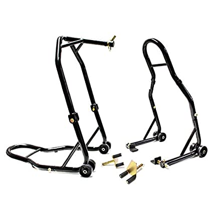 Venom Motorcycle Front+Rear Headlift Dual Lift Stand For Buell XB9/XB12  (All Years)