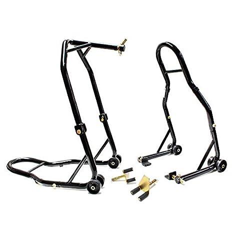 Venom motocicleta Triple Árbol frontal y trasero basculante Paddle elevador elevación de la rueda Combo Stands