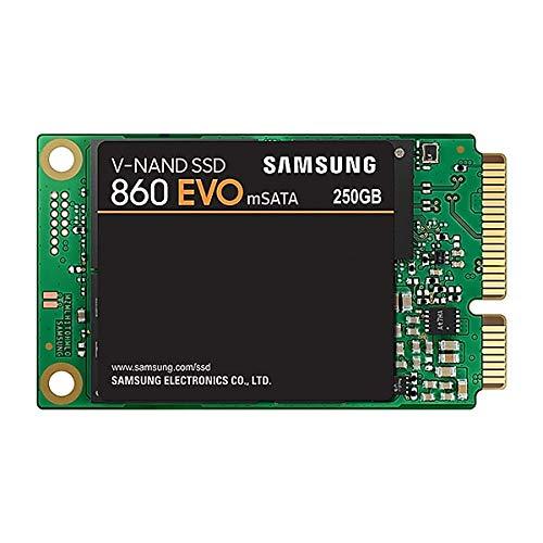 SAMSUNG 250GB 860 EVO Series mSATA SATA III 3D NAND Internal Solid State Drive (SSD) MZ-M6E250BW (Motherboard Series E)