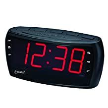 SuperSonic Digital AM/FM Radio Alarm Clock Radio with Jumbo Display