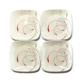 Corelle Dinnerware Dessert Plates Set Square Splendor 6.5u201d perfect size for dessert (  sc 1 st  Amazon.com & Amazon.com | Corelle Dinnerware Dessert Plates Set Square Splendor ...