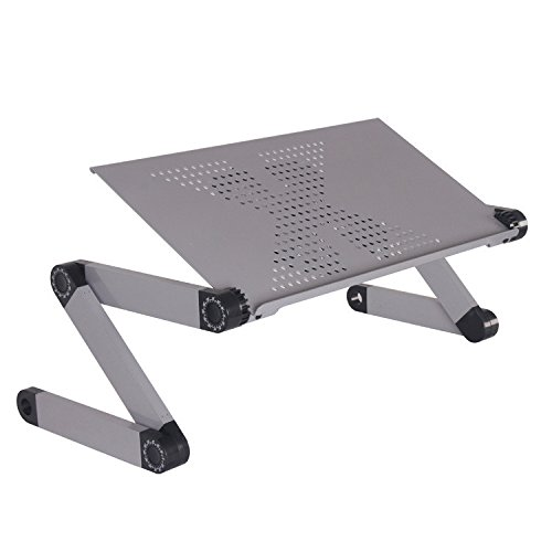 Qiaoba- Bed Computer Desk fold Desk, Gray