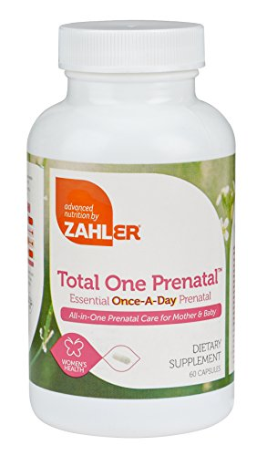 Zahler Total One Prenatal, Contains Folic Acid and Iron, an All-Natural Complete Pregnancy and Breastfeeding Multivitamin Supplement, Just One Capsule a Day,Certified Kosher, 60 Capsules
