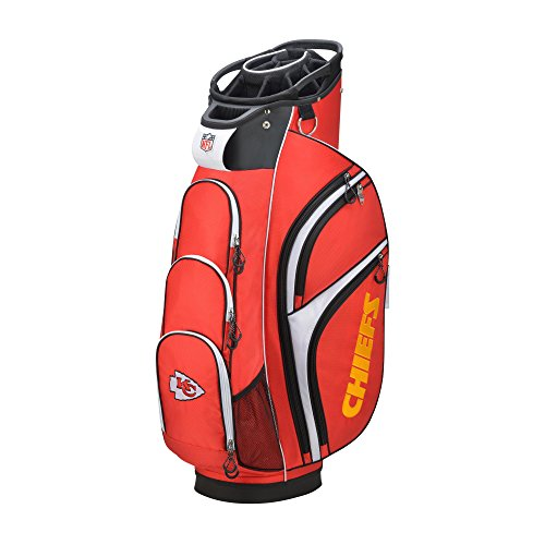 Kansas City Chiefs Golf Towel - Wilson 2018 NFL Golf Cart Bag, Kansas City Chiefs