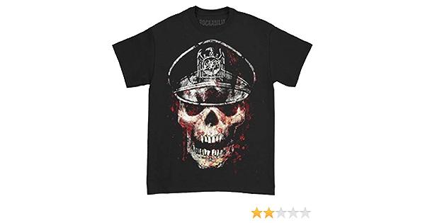 Slayer Men/'s  Skull Hat T-shirt Black