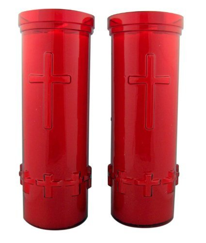 Set of 2: Six (6) Day Devotional Sanctuary Prayer Candle for Home in Red Plastic Sleeve