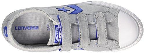 Converse Unisex-Kinder Star Player EV 3v Ox Wolf Grey Sneaker Mehrfarbig (Wolf Grey/Hyper Royal/White)