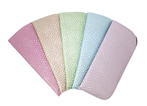 5 Pack Eyeglass Slip Cases For Women - Pretty Pearly Finish In Assorted - Pretty Eyeglasses