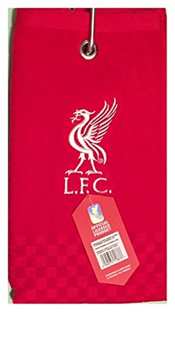 (New 2018 Liverpool Fc Cross Tri Fold Golf Towel By Premier)