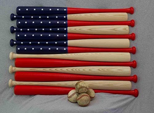 Baseball bat flag made with 30 inch baseball bats.