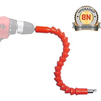 2 Pcs Flexible Drill Bit Extension Magnetic Hex Screwdriver Soft Black